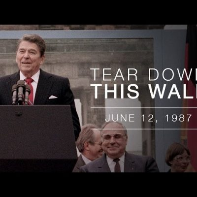 12th June 1987: Ronald Reagan calls on Mikhail Gorbachev to 'Tear down this wall!'