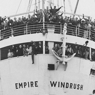 22nd June 1948: MV Empire Windrush arrives at Tilbury Docks in London from Jamaica
