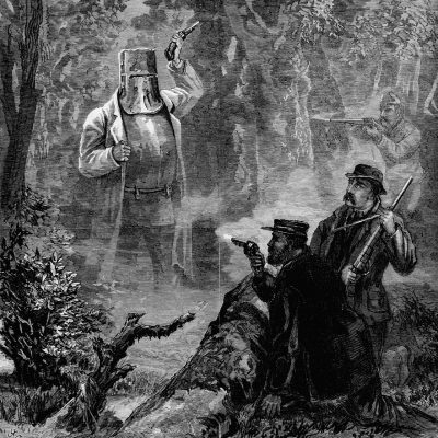 28th June 1880: Australian outlaw Ned Kelly arrested following a violent shoot out