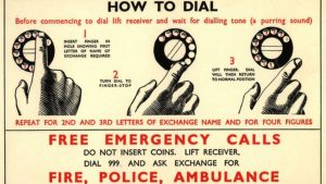 First emergency phone number 999