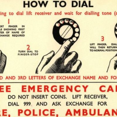 30th June 1937: World's first emergency telephone number began operating in London