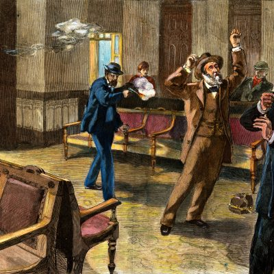 2nd July 1881: American President James A. Garfield shot by Charles J. Guiteau