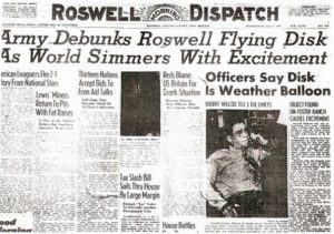 Flying Saucer newspaper Roswell