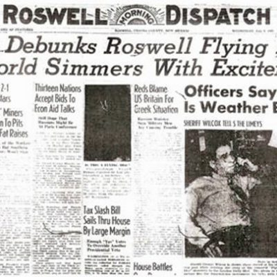 8th July 1947: Roswell Army Air Base reports 'flying disc' debris