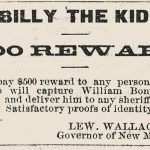 Billy the Kid reward advertisement