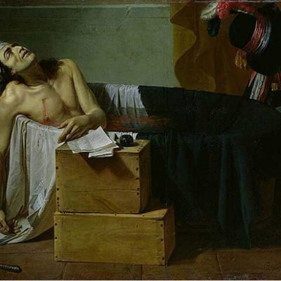 13th July 1793: Jean-Paul Marat stabbed to death in his bathtub by Charlotte Corday