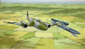 Gloster Meteor tipping a V-1