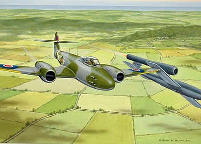 4th August 1944: First Allied jet pilot to achieve a combat victory by 'tipping' a V-1 doodlebug