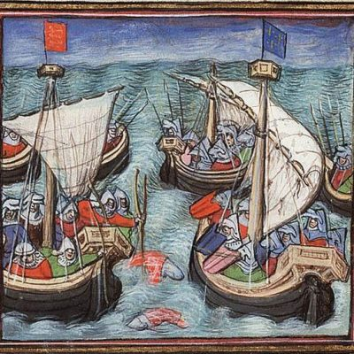 23rd September 1338: First naval battle with artillery takes place in the Hundred Years' War