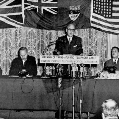 25th September 1956: Inauguration TAT-1, the first transatlantic telephone cable