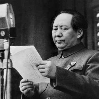 1st October 1949: Mao Zedong declares the establishment of the People's Republic of China