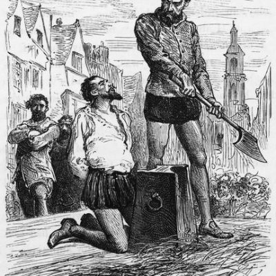 29th October 1618: Sir Walter Raleigh beheaded for treason against James I in the Main Plot