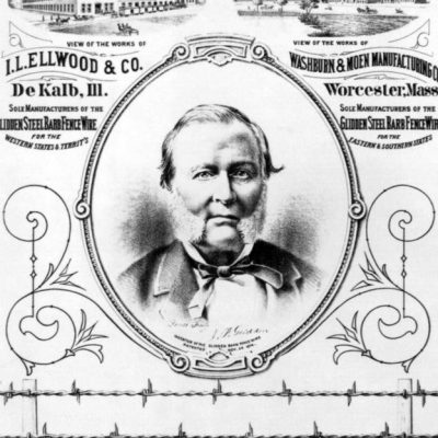 24th November 1873: Joseph Glidden awarded a patent for modern barbed wire