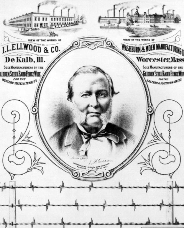 24th November 1873: Joseph Glidden awarded a patent for modern barbed wire | HistoryPod