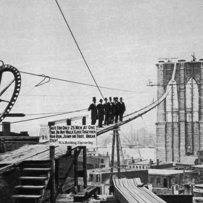 3rd January 1870: Construction begins on the Brooklyn Bridge