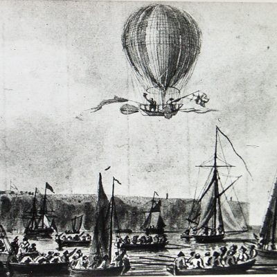 7th January 1785: First aerial crossing of the English Channel completed in a hydrogen balloon