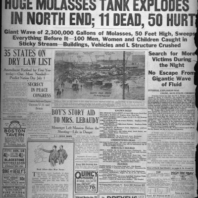 15th January 1919: Great Molasses Flood kills 21 people in Boston