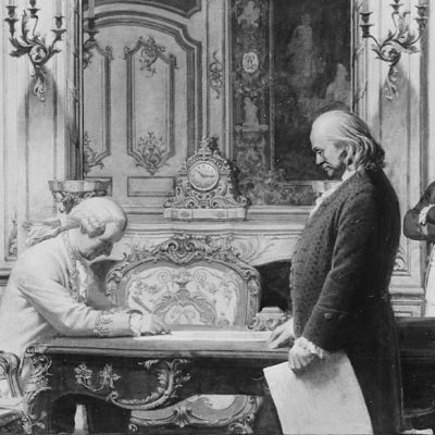 6th February 1778: France and the US sign the first treaties that recognise American independence