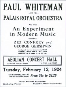 Poster for the premiere of Rhapsody in Blue