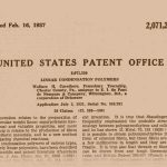 Wallace Carother's patent for nylon