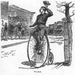 Thomas Stevens on his penny farthing