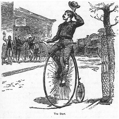 22nd April 1884: Thomas Stevens begins the first round-the-world cycle ride