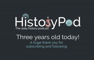 HistoryPod 3rd birthday logo