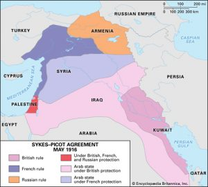 Sykes-Picot Agreement map