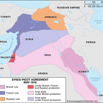 16th May 1916: The Sykes-Picot Agreement ratified by Britain and France