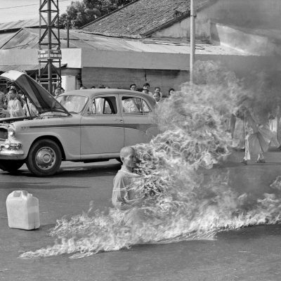 11th June 1963: Vietnamese Buddhist monk Thích Quảng Đức burns himself to death to protest again the government of Ngô Đình Diệm