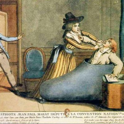 13th July 1793: Jean-Paul Marat attacked in his bathtub by Charlotte Corday