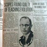 Scopes trial newspaper headline