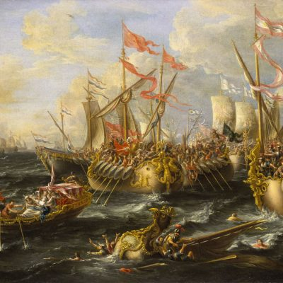 2nd September 31 BCE: Marc Antony and Cleopatra defeated by Octavian at the Battle of Actium