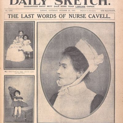 12th October 1915: British nurse Edith Cavell was executed by a German firing squad