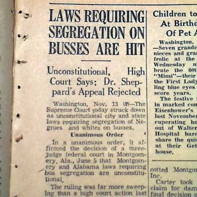13th November 1956: Supreme Court upholds Browder v Gayle to desegregate buses in Alabama