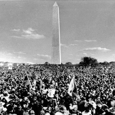 15th November 1969: 500,000 people march on Washington in the Moratorium to End the War in Vietnam