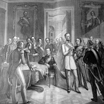 29th November 1850: The Declaration of Olmütz signed by Prussia and Austria