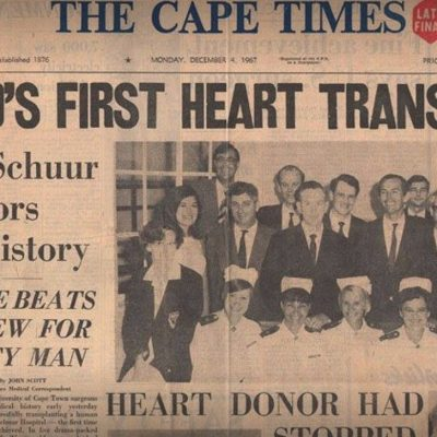 3rd December 1967: The first human-to-human heart transplant is performed