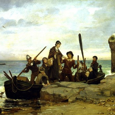 21st December 1620: The first Mayflower Pilgrims land at Plymouth