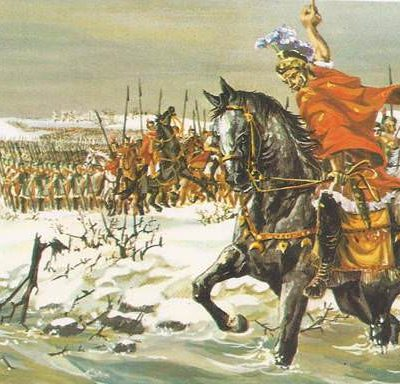 10th January 49 BCE: Julius Caesar crosses the Rubicon River on his march to Rome