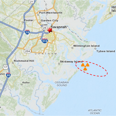 5th February 1958: Nuclear bomb lost off Tybee Island in Georgia, USA after an in-air collision