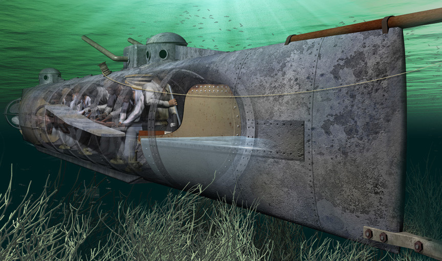 17th February 1864: An enemy ship sunk by submarine for the first time | HistoryPod