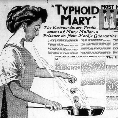27th March 1915: Typhoid Mary placed in permanent quarantine in New York