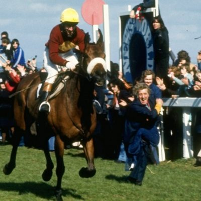 2nd April 1977: Red Rum wins an unprecedented third Grand National horse race