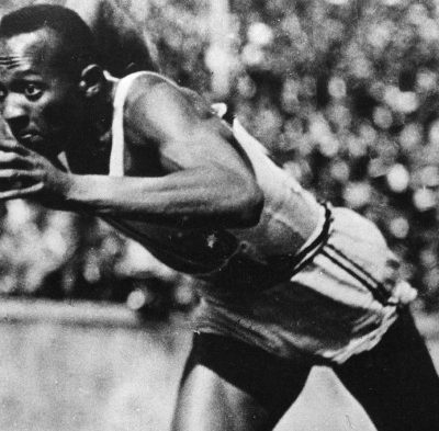 3rd August 1936: Jesse Owens wins his first gold medal at the 1936 Berlin Olympics