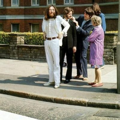 8th August 1969: The Beatles pose for an album cover on the Abbey Road zebra crossing