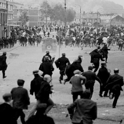 12th August 1969: The Battle of the Bogside begins in Derry, Northern Ireland