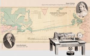 First Atlantic telegraph cable