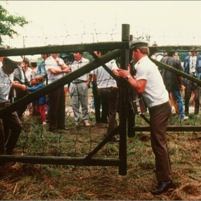 19th August 1989: The Pan-European Picnic opens the Cold War border between Hungary and Austria