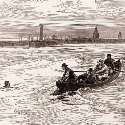 25th August 1875: Captain Matthew Webb becomes the first person to swim the English Channel